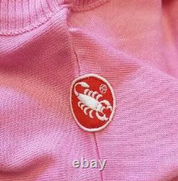 1980s Giro d'Italia Pink Jersey 7-Eleven Cycling Team Signed Andy Hampsten