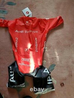 Audi Cycling Team Castelli LS SPEED SUIT X2 AIR PAD Men's M made in USA NEW