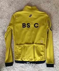 Black Sheep Cycling Jersey Long Sleeve Mustard / Yellow Men's Medium