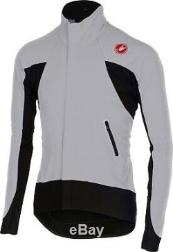 Castelli Alpha Men's Wind Proof Front Cycling Jersey Gray Size Large NEW