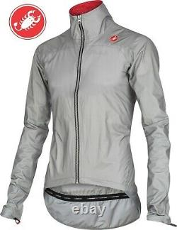 Castelli Tempesta Men's eVent Cycling Rain Jacket Grey Size Large SEE Video