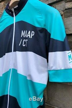 MAAP x CYCLING TIPS COLLAB JERSEY IN SUPERB CONDITION NAVY/TEAL/WHITE MED