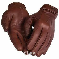 RAPHA Men's City Leather Full Finger Cycling Gloves Tan Brown L BNWT RRP140