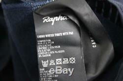 RAPHA Men's Dark Navy Cargo Winter Tights With Pad Cycling Activewear Small NEW