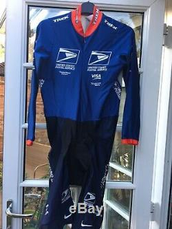 RARE Nike US POSTAL Cycling Team Issued Long Sleeve Skinsuit