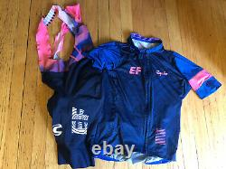 Rapha EF cycling kit jersey and bibs mens M