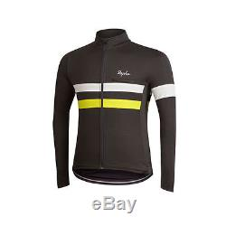 Rapha Long Sleeve Brevet Jersey (grey) and Gillet (yellow) L/S Size XL BNWT