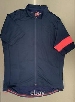 Rapha Men's Classic Jersey II Dark Navy High-Vis Pink X Large Brand New With Tag