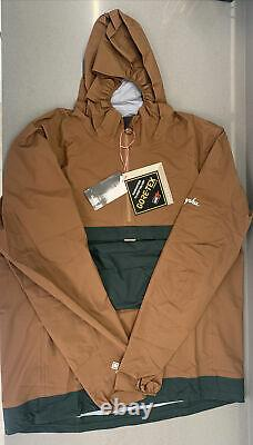Rapha Men's Explore Hooded Gore-Tex Pullover Brown Size XX Large Brand New Tag