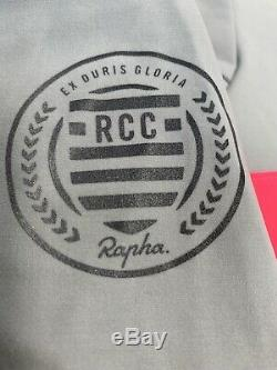 Rapha Men's RCC Pro Team Long Sleeve Shadow Jersey Grey Size Large New With Tag