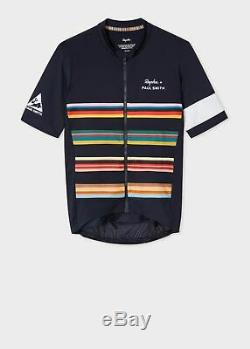 Rapha + Paul Smith Pro Team Navy Midweight Cycling Jersey Large L Blue
