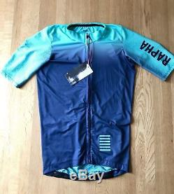 Rapha Pro Team Aero Colorburn Turquoise Blue SS Cycling TT Jersey NWT Size Med