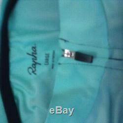 Rapha Pro Team Blue Turquoise Aero Colorburn SS Cycling Jersey Large New