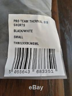 Rapha Pro Team Thermal Cycling Bib Shorts Size S Black and White Brand New