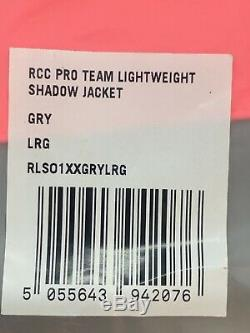Rapha RCC Pro Team Lightweight Shadow Jacket Grey Size Large New With Tag