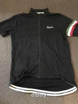 Rapha The Italian Black Country Full Zip Classic Cycling Jersey S/S Large EUC