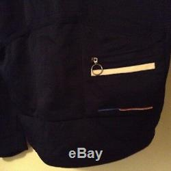 Rapha USA Sportswool Navy Blue Long Sleeve Country Cycling Jersey EUC Large
