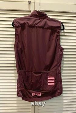 Rapha pro team insulated gilet rich burgundy large new with out tags