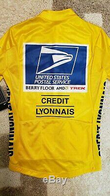 USPS, US Postal, Authentic Nike, Lance Armstrong Tour De France Yellow Jersey