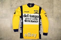 Vintage Campagnolo Colnago Del Tongo Cycling Wool Longsleeve Jersey Size 2 (m)