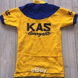Maillot Cyclisme Kas Vintage Campagnolo Team Pour Cycliste 1977 Eroica Kelly Wool