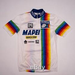 Maillot Cycliste Mapei Quickstep Uci World Cup 2002. Taille L
