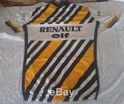 Team Renault 1984 Jersey Rare! Taille 3 Vintage